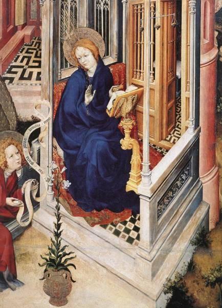 The Annunciation detail 1